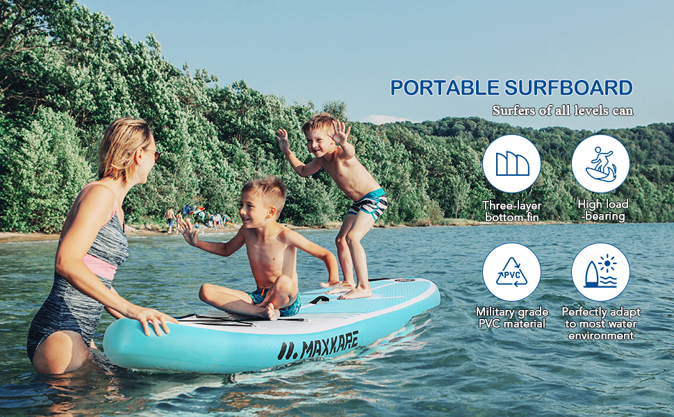 MaxKare Inflatable Paddle Board