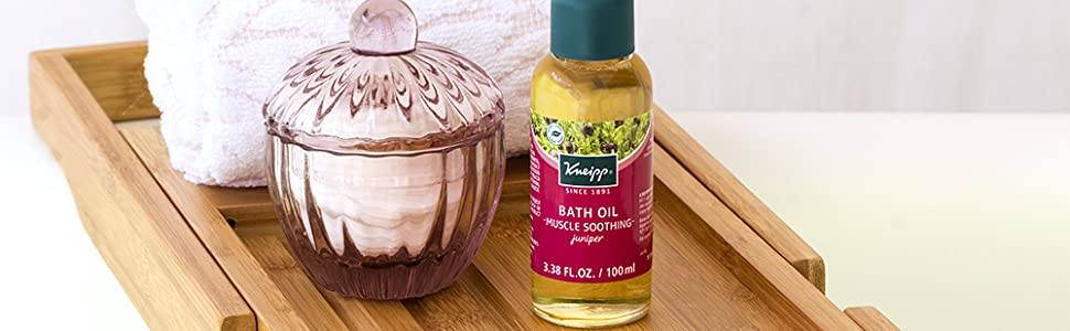 Juniper Bath Oil to soothe muscle pain