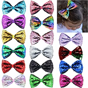 5inch Reversible Sequins Hair Bows