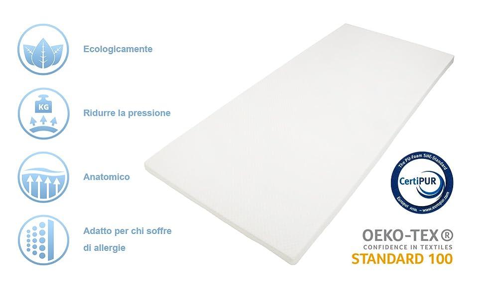 140x200x5cm Dailydream correttore Materasso viscoelastico Deluxe con Effetto Memory Foam