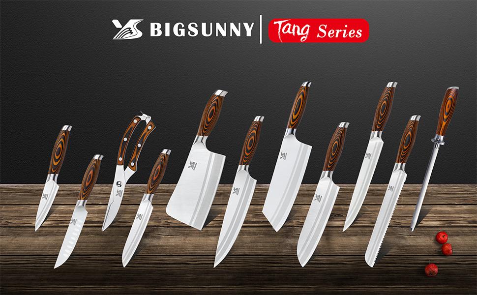 knife set German steel kitchen knife set chef knife set cleaver set asian knife set sharp knives