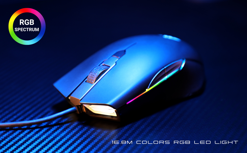 a900  ABKONCORE Gaming Mouse A900 [16,000 DPI], Wired, USB Computer Mice with 8 Programmable Buttons, PWM 3389 Sensor, RGB Backlit, Comfortable Grip Both Handed Mice for Laptop, PC, Mac, Windows 107091be 2ea2 4ad4 84b6 bfb75572ac61