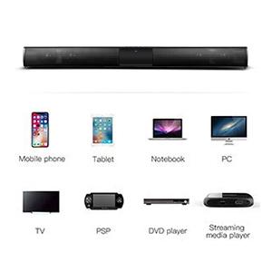Docooler Barra de Sonido Para TV,Luxus inalámbrico BT 4.0 Altavoz SoundBar TV de Cine en casa 3D de Bass televisor de subwoofer con RCA Line con Mando a Distancia: Amazon.es: Electrónica