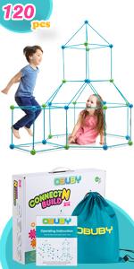 crazy construction fort building kit for kids 120 piece