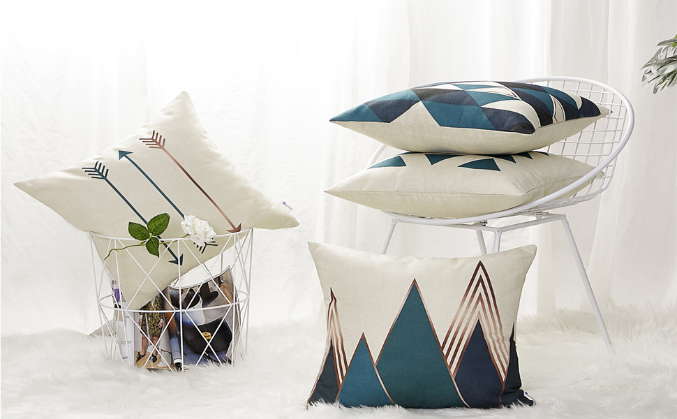 gray pillow covers a