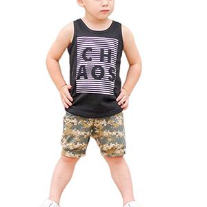 baby boy camo shorts set