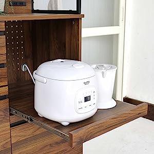 キッチンボード レンジ台 食器棚 スライド 大型レンジ対応 コンセント付き おしゃれ レンジボード スリム キッチンラック キッチンキャビネット カップボード ハイ ハイタイプ キッチン収納 家電収納