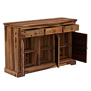 wooden sideboard cabinet for home solid sheesham wood furniture storage kitchen cabinets SPN-JGS