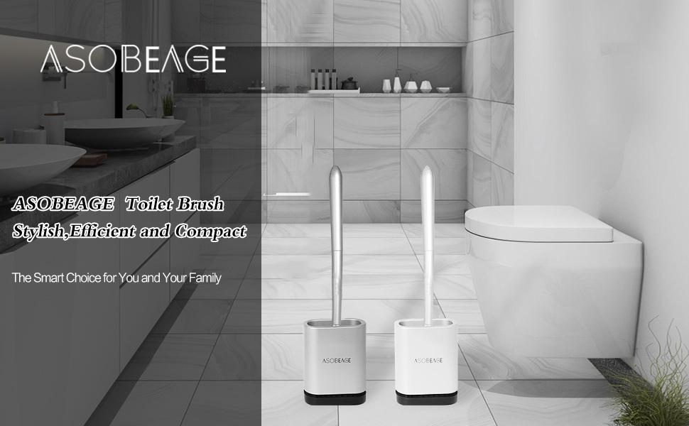TOCYORIC Toilettenb/ürste Set WC B/ürste aus Silikon Toilet Brush Klob/ürste Silikon Toilettenreinigungsb/ürsten-Kit Toilettenb/ürsten f/ür Badezimmer mit schnell trocknendem Haltersatz Kann gestellt