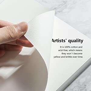 20 Sheets 140-lb Artist Quality Watercolor Paper Pad Acid-Free Cold Pressed 50 Percent Cotton Rag Paul Rubens Watercolor Block Sized 7.6 x 5.3 Inches