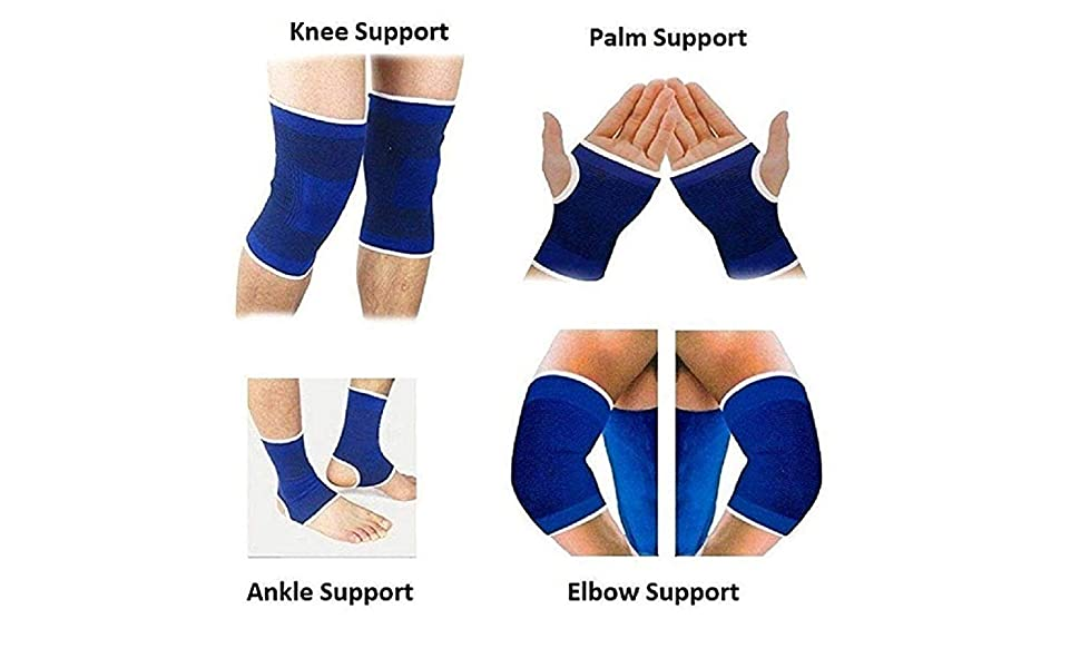 Set of Ankle, Palm, Knee, Elbow Support, Gym Support