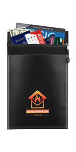 Fire & Water Resistant Money & Document Bag