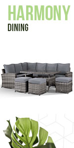 Corner sofa, Washable Covers, dining, stools, outdoor, rattan, Fully Assembled, contemporary, dining