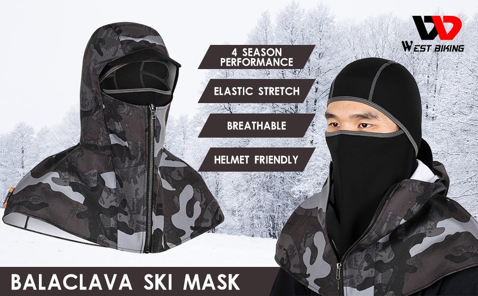 Balaclava Ski Mask,Warm Waterproof Windproof Fleece Winter Sports Cap,Face Mask Cover Cold Weather