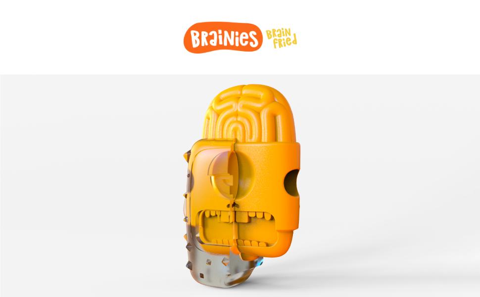 Cerebro frito - Perro masticar juguete