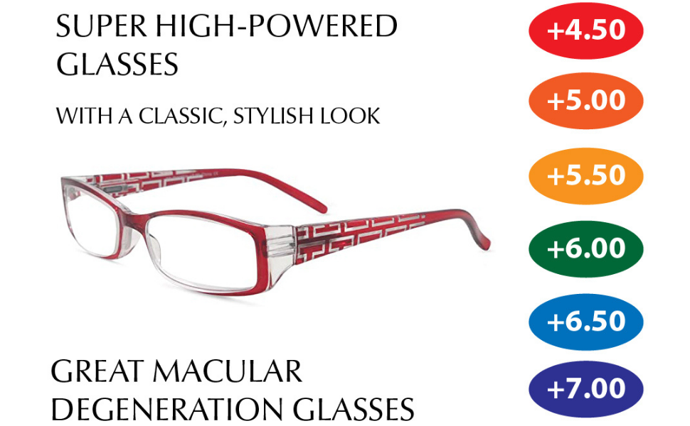 super high powered glasses macular degeneration in style eyes stylish readers high strength