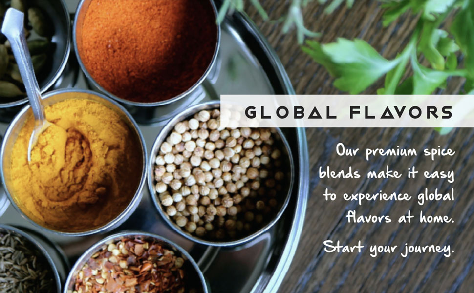 Zen of slow cooking global flavors premium spice blends make it easy to experience global flavors