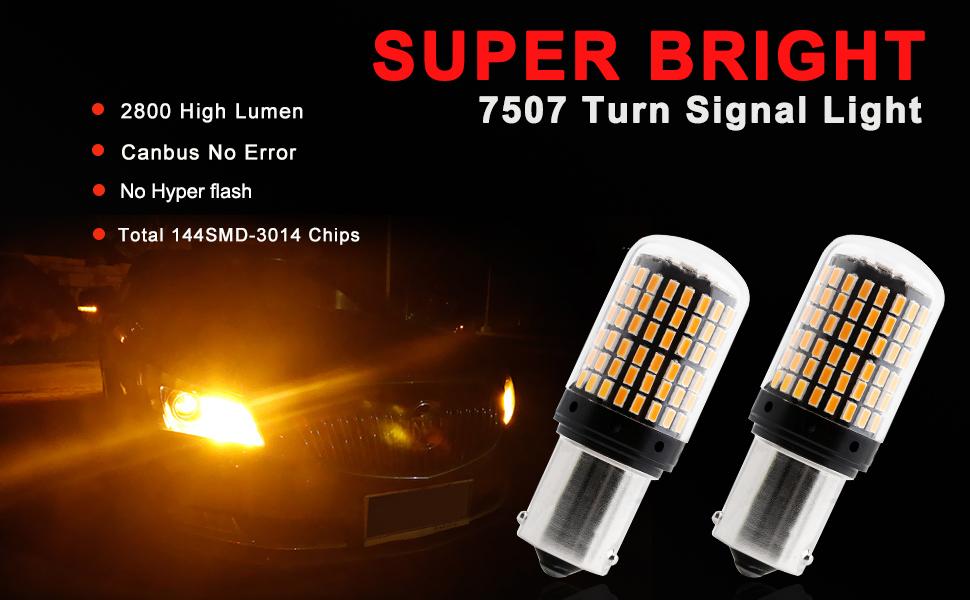led turn signal with resistor bau15s 7507 turn signal bulb 7507 bulb amber led canbus 7507a led bulb