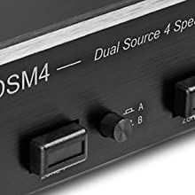 dual source speaker selector whole home audio