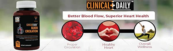 CLINICAL DAILY Blood Circulation Supplement for women men adult senior fatigue herbal varicose vein