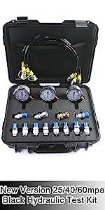 New version black hydraulic pressure test kit