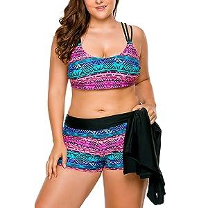 Tankini Donne Beach Spiaggia Swimwear Due Pezzo Sexy Beachwear Moda Mare Costume da Bagno