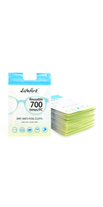 Eyeglasses Anti-Fog Cleaning Cloths, Screens, Lens Wipe for All Electronic Device Screens