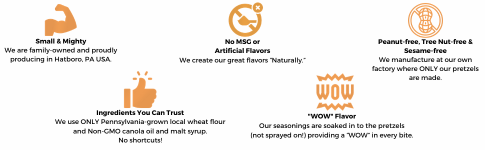 pretzel pete brand values no msg or artificial ingredients clean label