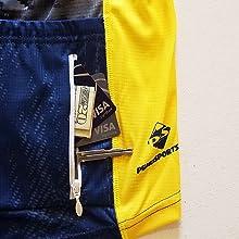 Zipper back pocket