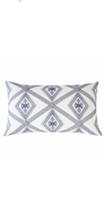 blue lumbar pillows