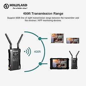 400ft Transmission Range