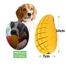 PET-FUN Medium Mango Dog Boredom Puzzle Toy