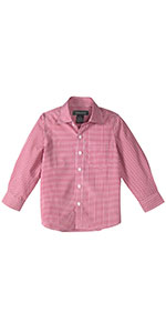shirt, spring notion, formal, casual, long sleeve, gingham, red