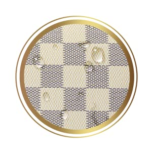 clutch purse travel waterproof  cream checkerboard makeup make up bag toiletry cosmetic pouch large