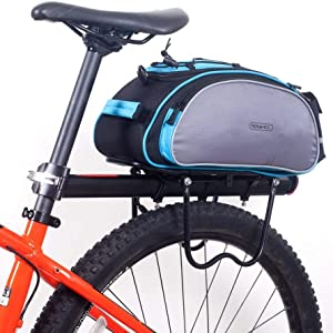 Hot Bicycle Seat Rear Bag Bike Pannier Rack Shoulder Cycling Polyester Q5G2