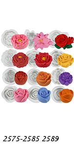 Large Flowers Molds 12-count