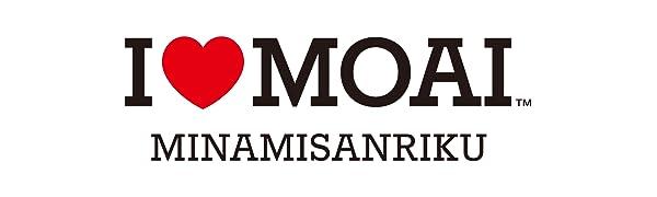 ロゴ:I LOVE MOAI - MINAMISANRIKU(アイラブモアイ 南三陸)