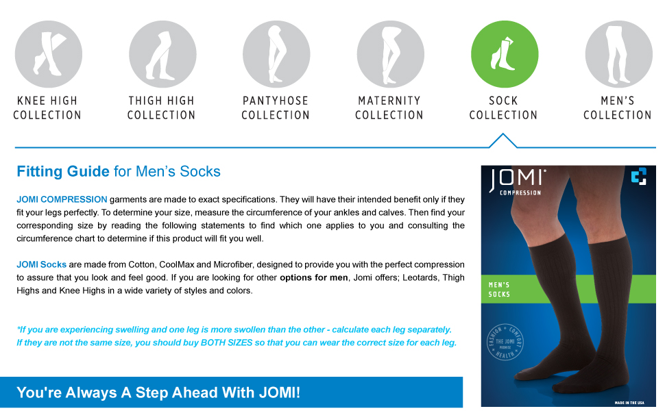 jomi knee high compression stockings 20-30 15-20 30-40 8-15 mmhg men socks tights toe less