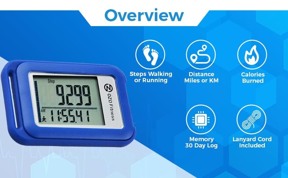 SC3D, pedometer, steps, miles, odometer, padometer, pedimeter, calories, watch, clock