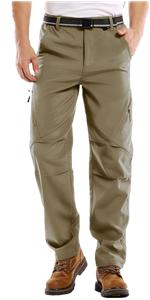 Jessie Kidden Mens Waterproof Hiking Outdoor Snow Ski Fishing Fleece Lined Insulated Winter Pants