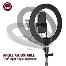 "10"" LED Selfie Ring Light with Tripod Stand and Phone Holder"