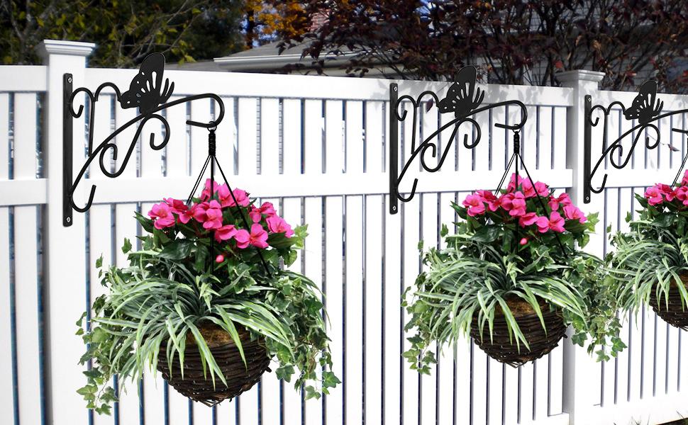 PLANT HANGER BRACKET STEEL PLANT HOOK Hanging Garden Planters Flower Baskets