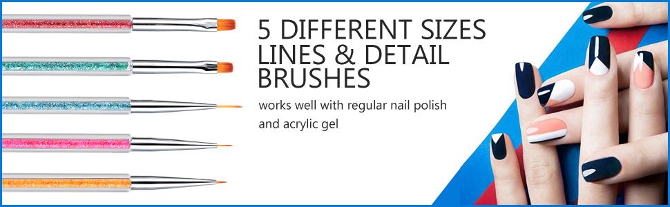 5 pcs nail art tools