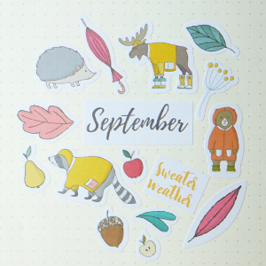 bullet journal stickers, bullet journal supplies, clear stickers, arrow stickers, weekly spread