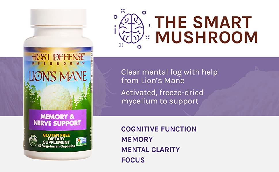 THE SMART MUSHROOM Clear mental fog with help from Lion's Mane Activated, freeze-dried mycelium