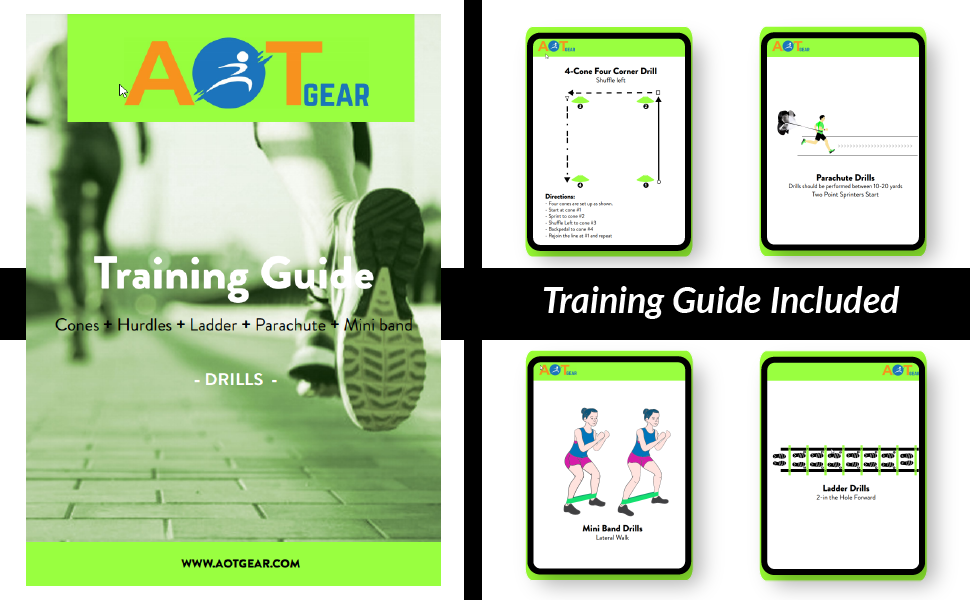 Training Guide Drills Book footwork exercises drill cones speed training drills exercise guide