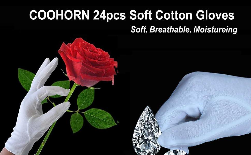 reusable gloves cotton work gloves fabric gloves glove liners men work gloves White Costume Gloves