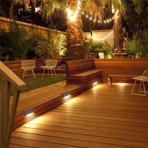 Solar Deck Lights Step Lights Outdoor, 16 Pack Solar Step Lights LED Waterproof Solar Fence Lights