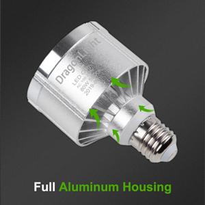 trilight led corn cob row aluminum housing strong slim compact led bulbs