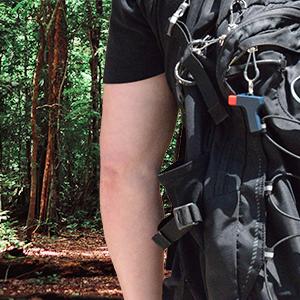 ZAP-IT on backpack
